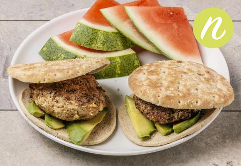 Dijon Feta Turkey Burgers