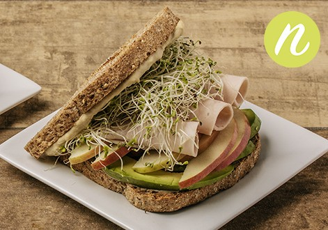 Turkey Hummus Avocado Sandwich