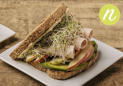 Turkey Hummus Avocado Sandwich