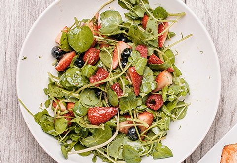 Watercress Berry Salad with Exclamation Sauce