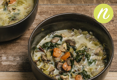 Herbed Chicken Vegetable Wild Rice Soup