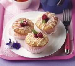Angel Food Cupcakes with Raspberry Swirl
