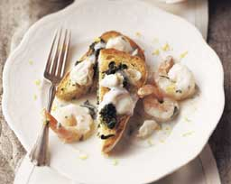 Creamy Seafood over Toast Points