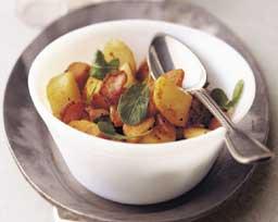 Harvest Potato and Arugula Saute