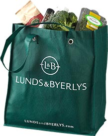 <p>For every reusable bag we use to bag your groceries, we'll make a 5-cent donation to locally-based Second Harvest Heartland, the Upper Midwest's largest hunger relief organization.</p>