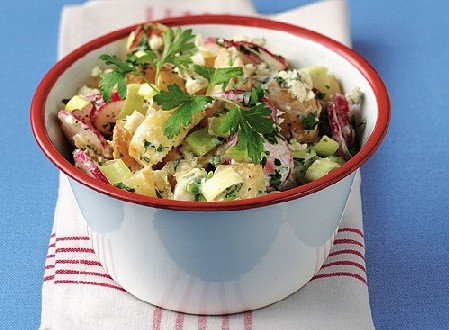 Oven-Roasted Potato Salad with Danish Blue Cheese