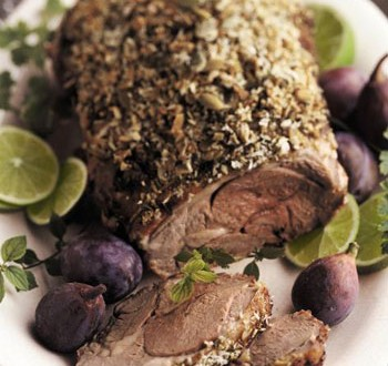 Pumpkin Seed Crusted Leg of Lamb