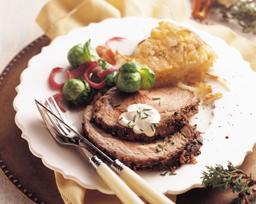 Rib Eye Roast with Wasabi Crust