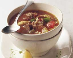 Spicy Andouille, Chicken and Rice Soup