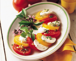 Tomatoes and Mozzarella with Balsamic Vinaigrette