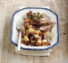 Warm Sweet Potato Salad with Cranberry Vinaigrette