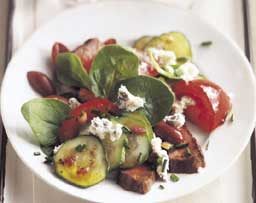 Grilled Sirloin and Blue Cheese Salad