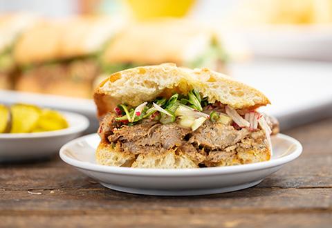 Asian Pork Sandwiches