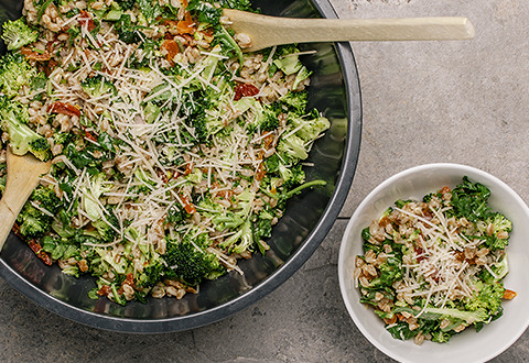 Farrout Broccoli Kale Salad