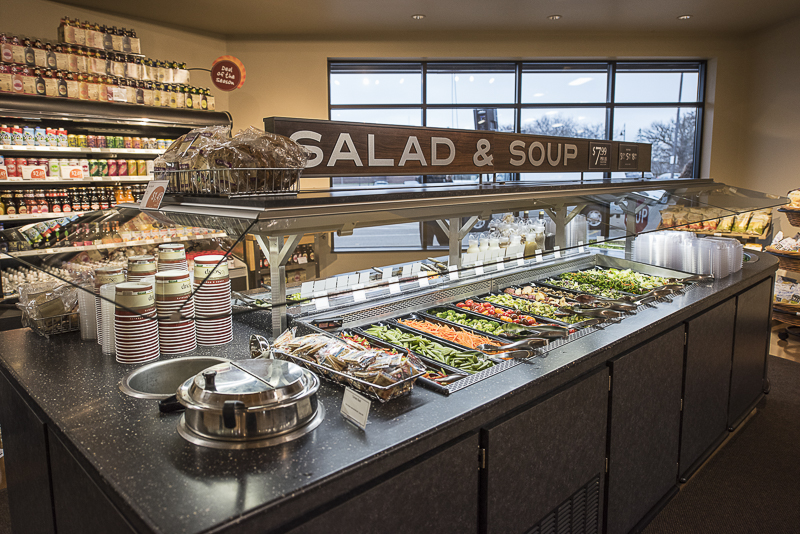 A salad and soup bar.