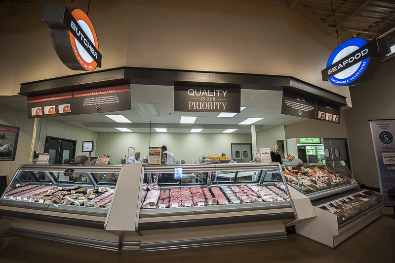 A butchery with a quality is our priority sign.