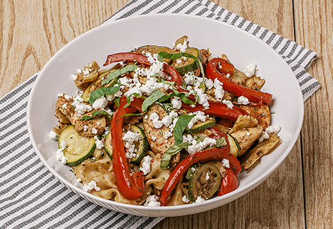 Mediterranean Chicken with Penne Pasta