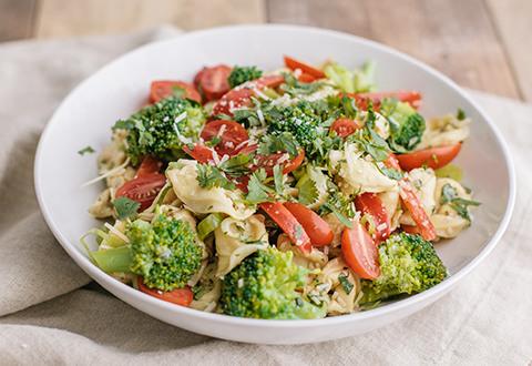 Tortellini 'N Veggie Salad