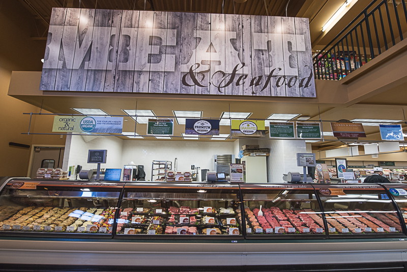 Meat and seafood section