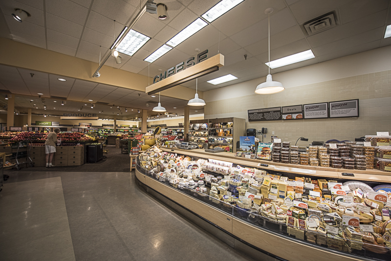 A large cheese section.