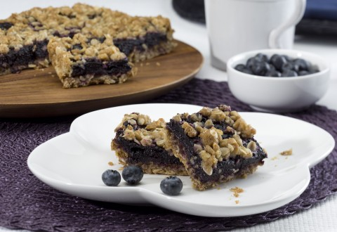 Fresh Blueberry Oatmeal Crumble Bars