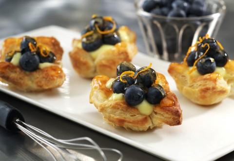 Mini Blueberry Tarts with Orange Custard