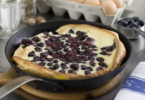 Fresh Blueberry Alpine Pancakes