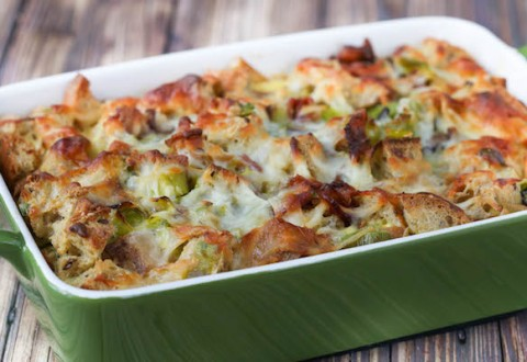 Bacon & Leek Strata