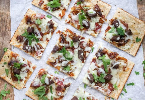 Beef, Bacon and Blue Cheese Flatbread Recipe