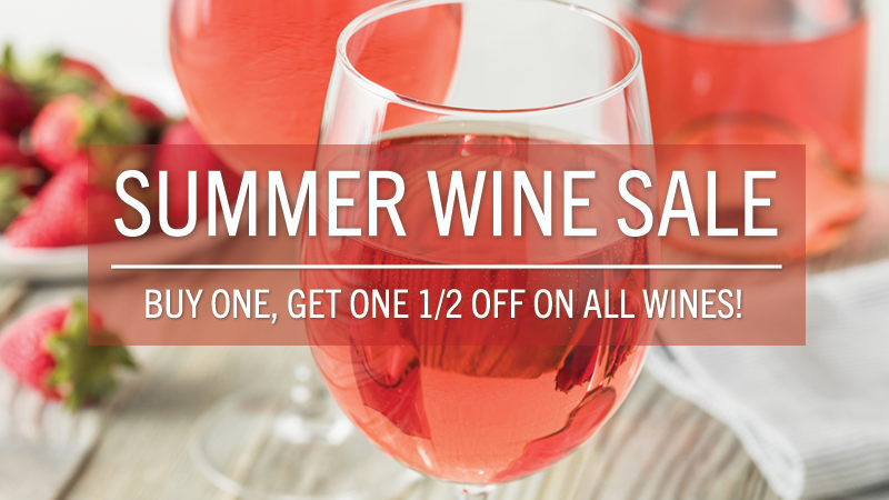 July 12-22: BUY ONE, GET ONE 1/2 OFF!