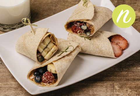 Peanut Butter and Berry Burrito