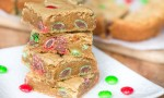 Peanut Butter M&M Blondies-4