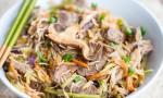 Korean Steak and Vegetable Noodle Bowl-3