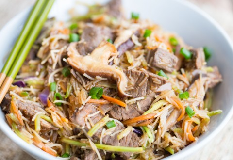 Korean Beef & Vegetable Noodle Bowl