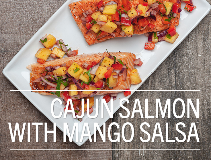 Cajun Salmon with Mango Salsa