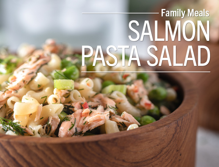 Roasted Salmon Pasta Salad
