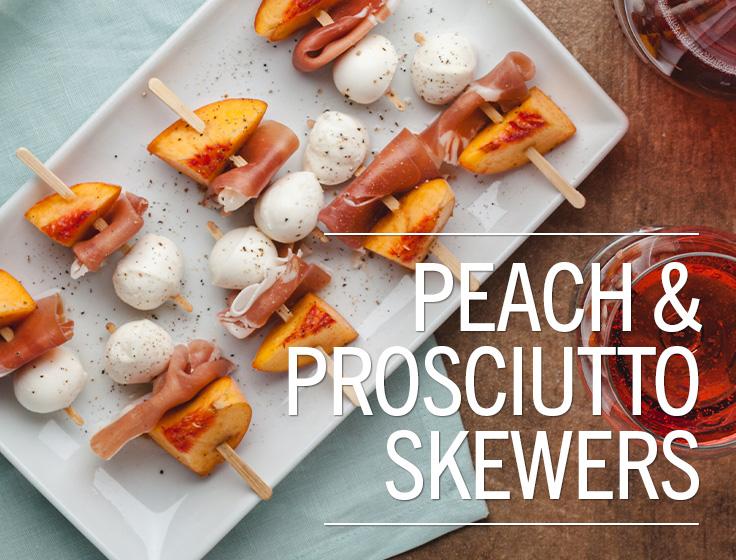 Peach & Prosciutto Skewers
