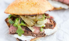 Grilled Steak and Onion Sandwiches with Creamy Horseradish Sauce