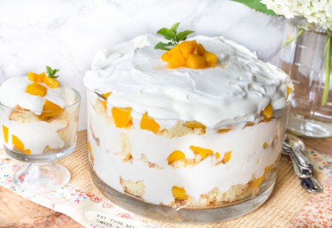 Peaches & Cream Trifle