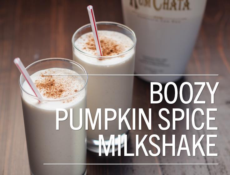Boozy Pumpkin Spice Milkshake