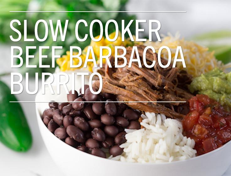 Slow Cooker Beef Barbacoa Burrito