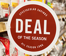 Deal of the Season shelf tag