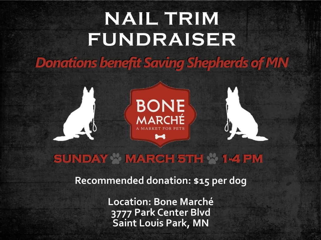 Nail Trim Fundraiser benefiting Saving Shepherds of MN - $15 Donation