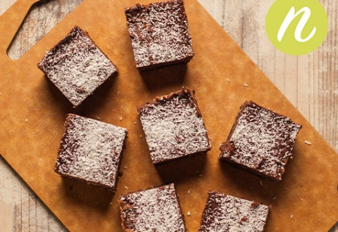 Raw Coconut Butter Brownies
