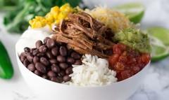Slow Cooker Beef Barbacoa Burrito Bowls