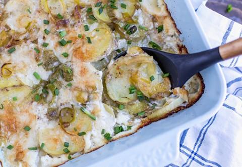Leek and Gruyere Scalloped Potatoes