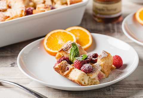 Baked Lemon Raspberry French Toast