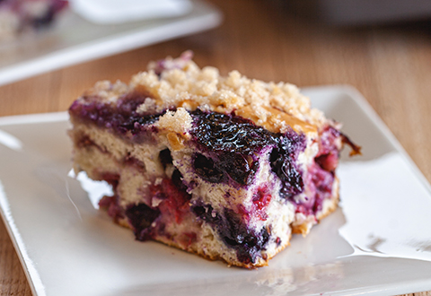 Triple Berry Muffin Cake