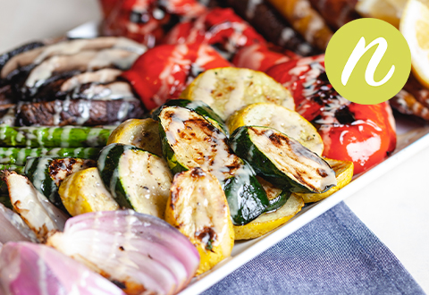 Grilled Rainbow Veggies