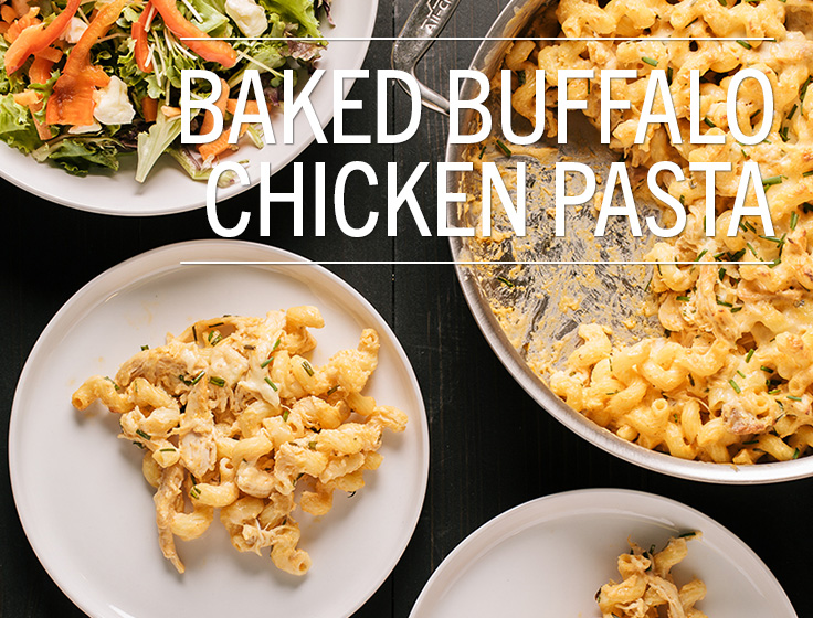 Baked Buffalo Chicken Pasta